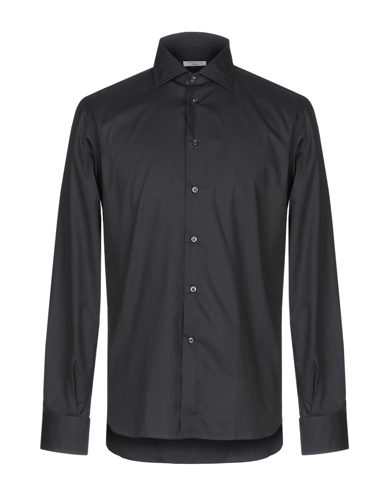 《期間限定セール中》G.B. CENERE メンズ シャツ ブラック 40 コットン 100%