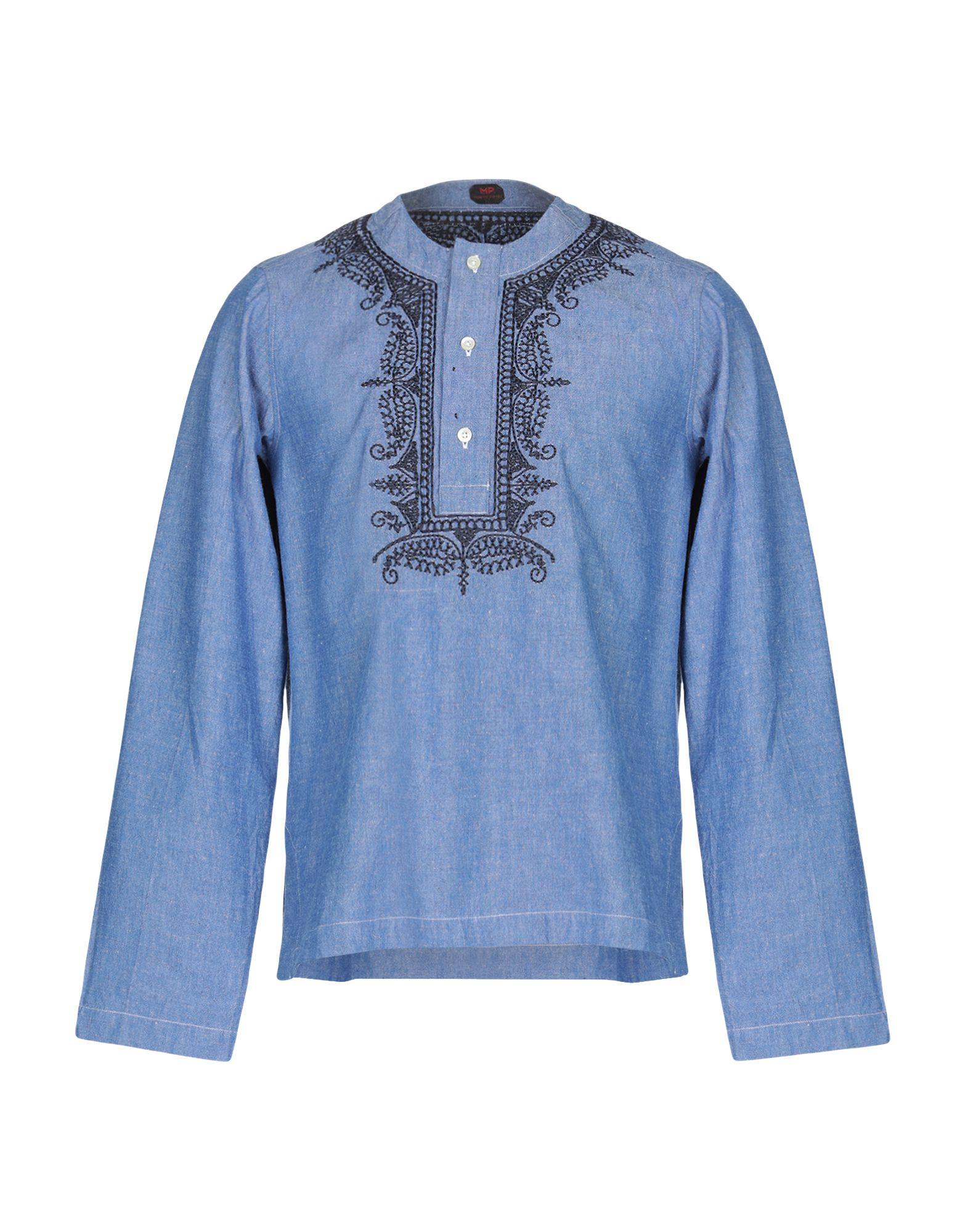 MP MASSIMO PIOMBO Джинсовая рубашка недорго, оригинальная цена