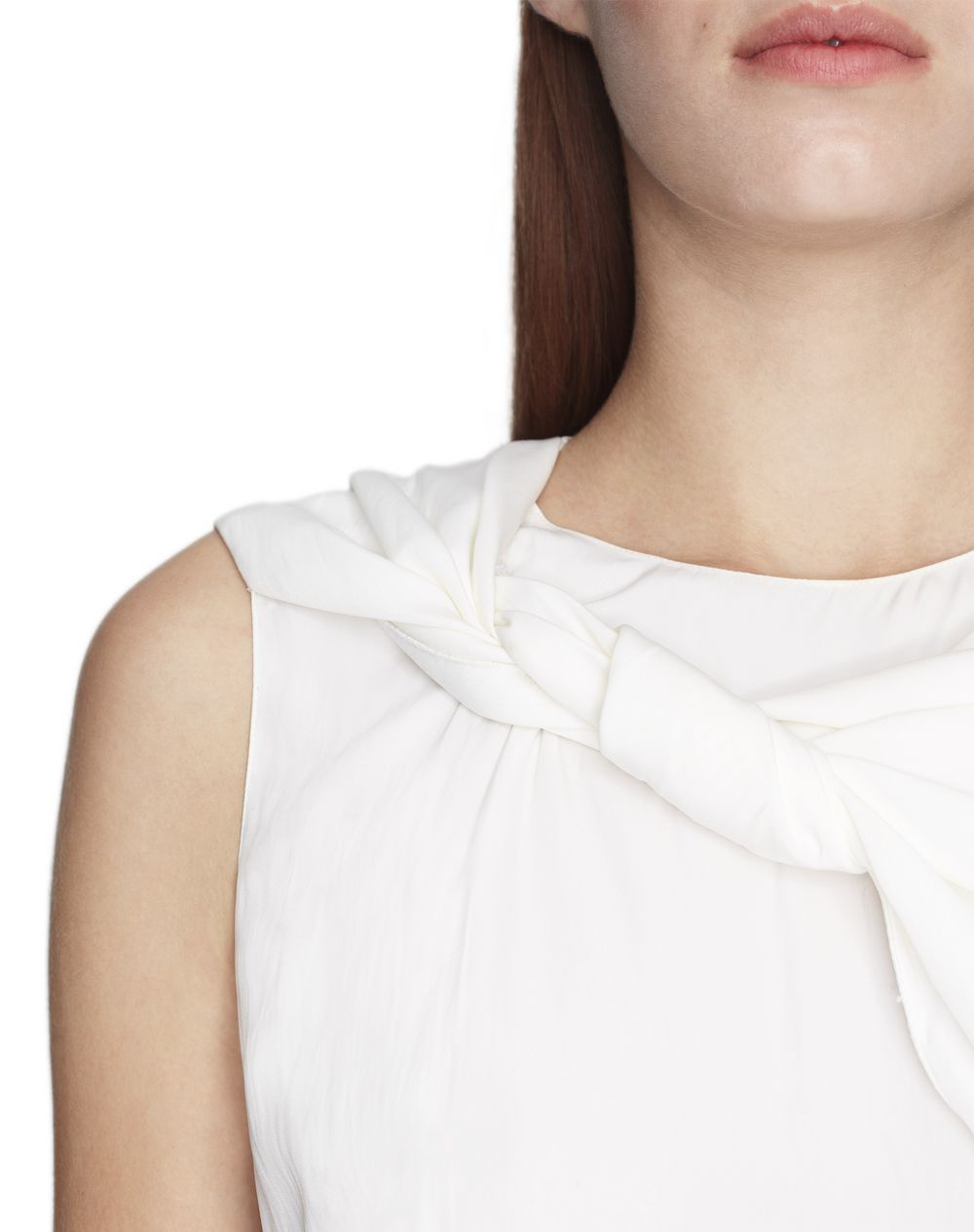 IVORY BLOUSE WITH BOW COLLAR  - Lanvin