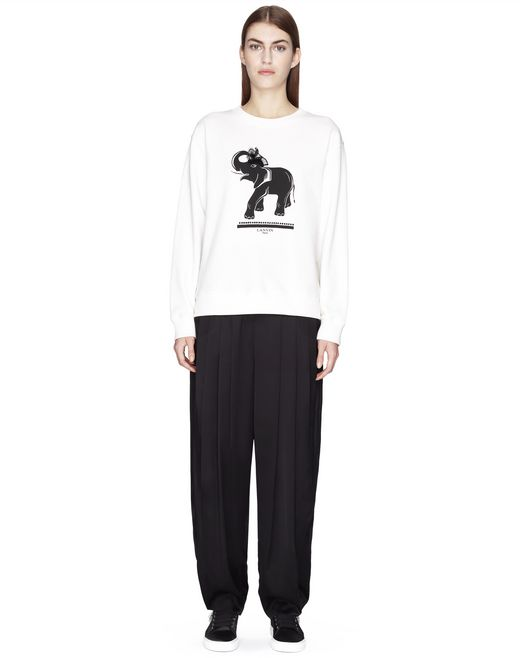 MAGLIONE IN JERSEY CON STAMPA ELEPHANT - Lanvin