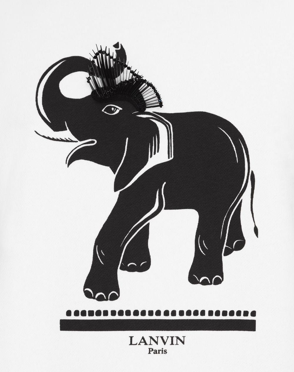 ELEPHANT PRINT JERSEY SWEATER - Lanvin