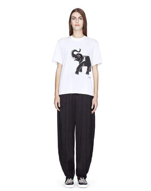 T-SHIRT IN JERSEY CON STAMPA ELEPHANT  - Lanvin