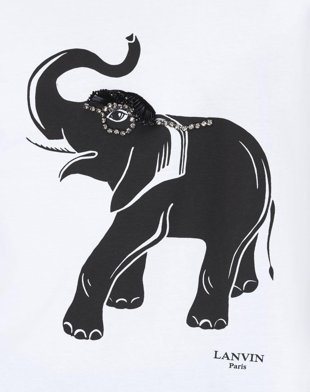 ELEPHANT PRINT JERSEY T-SHIRT  - Lanvin