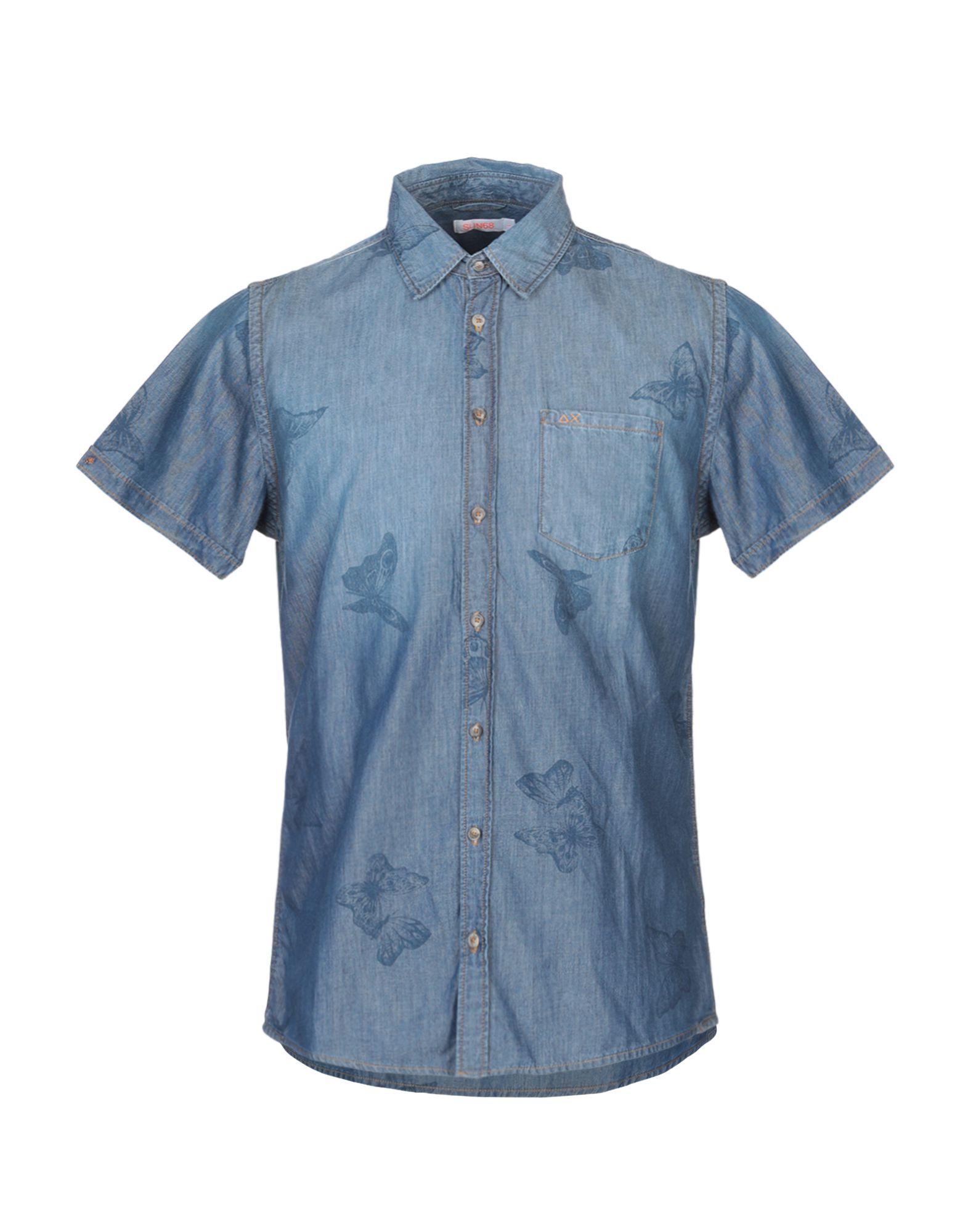 SUN 68 Джинсовая рубашка цена 2017