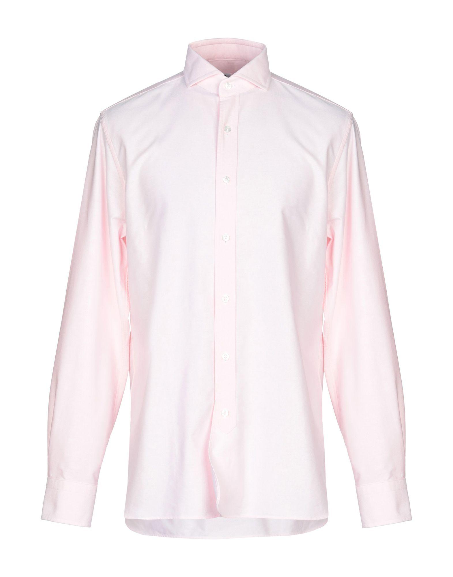 《送料無料》DOPPIAA メンズ シャツ ピンク 41 コットン 100%