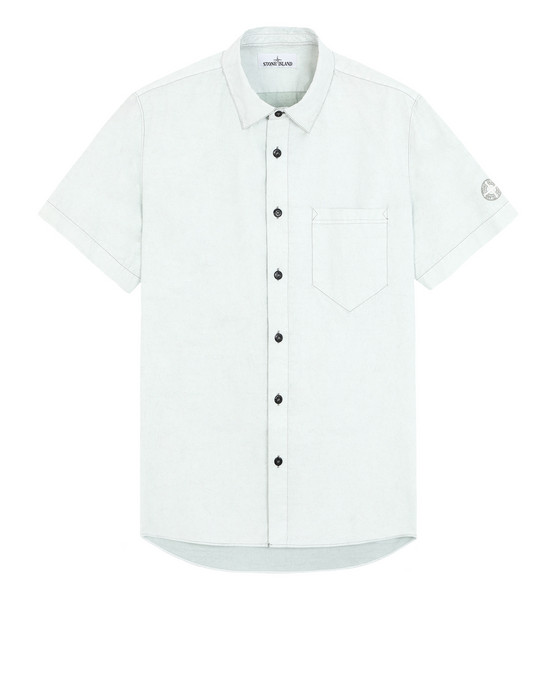 Рубашка с короткими рукавами 12962 TELA PARACADUTE PLACCATA-TC STONE ISLAND - 0