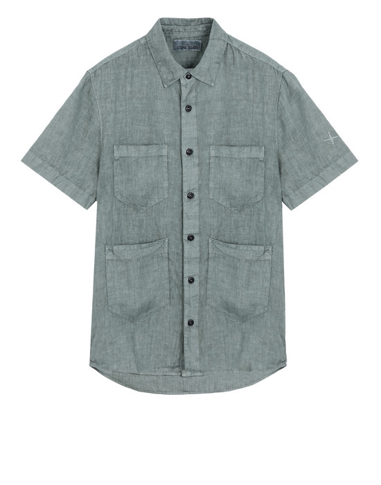 Short sleeve shirt 11501 'FISSATO' DYE TREATMENT STONE ISLAND - 0