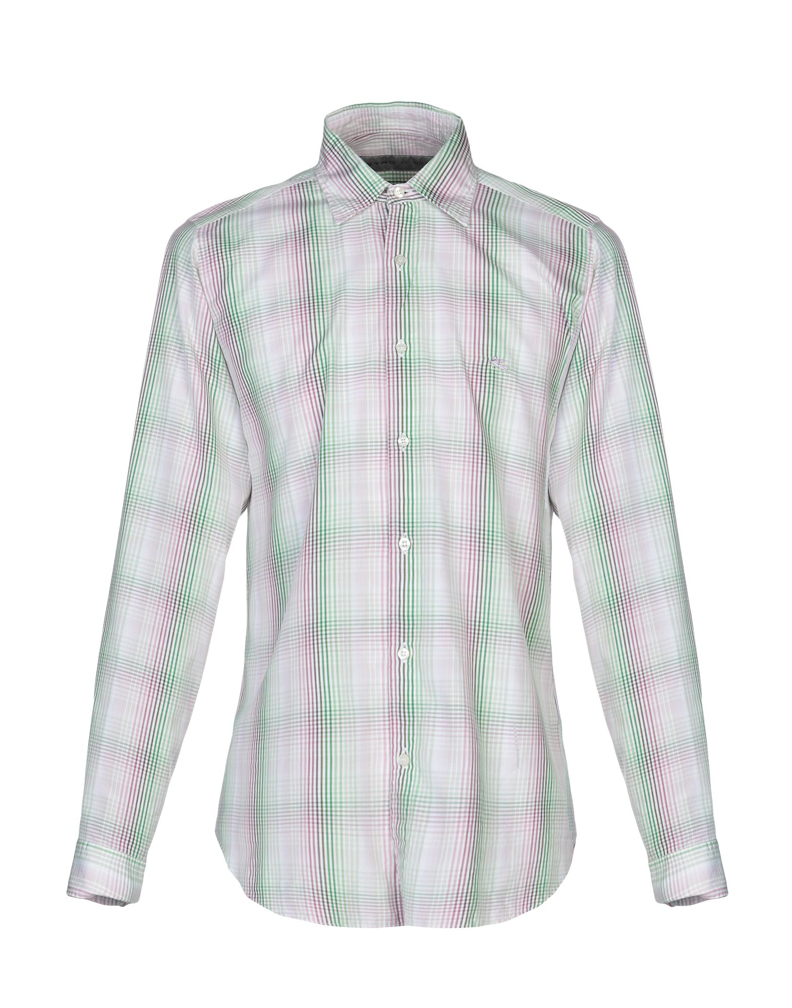《送料無料》ETRO メンズ シャツ ライトグリーン M コットン 100%