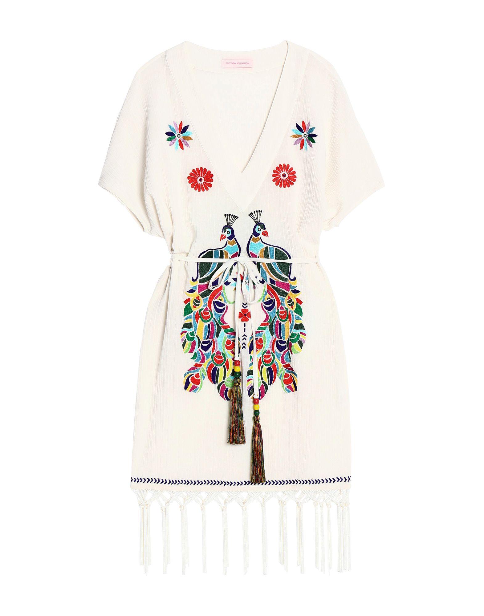 цена MATTHEW WILLIAMSON Короткое платье онлайн в 2017 году
