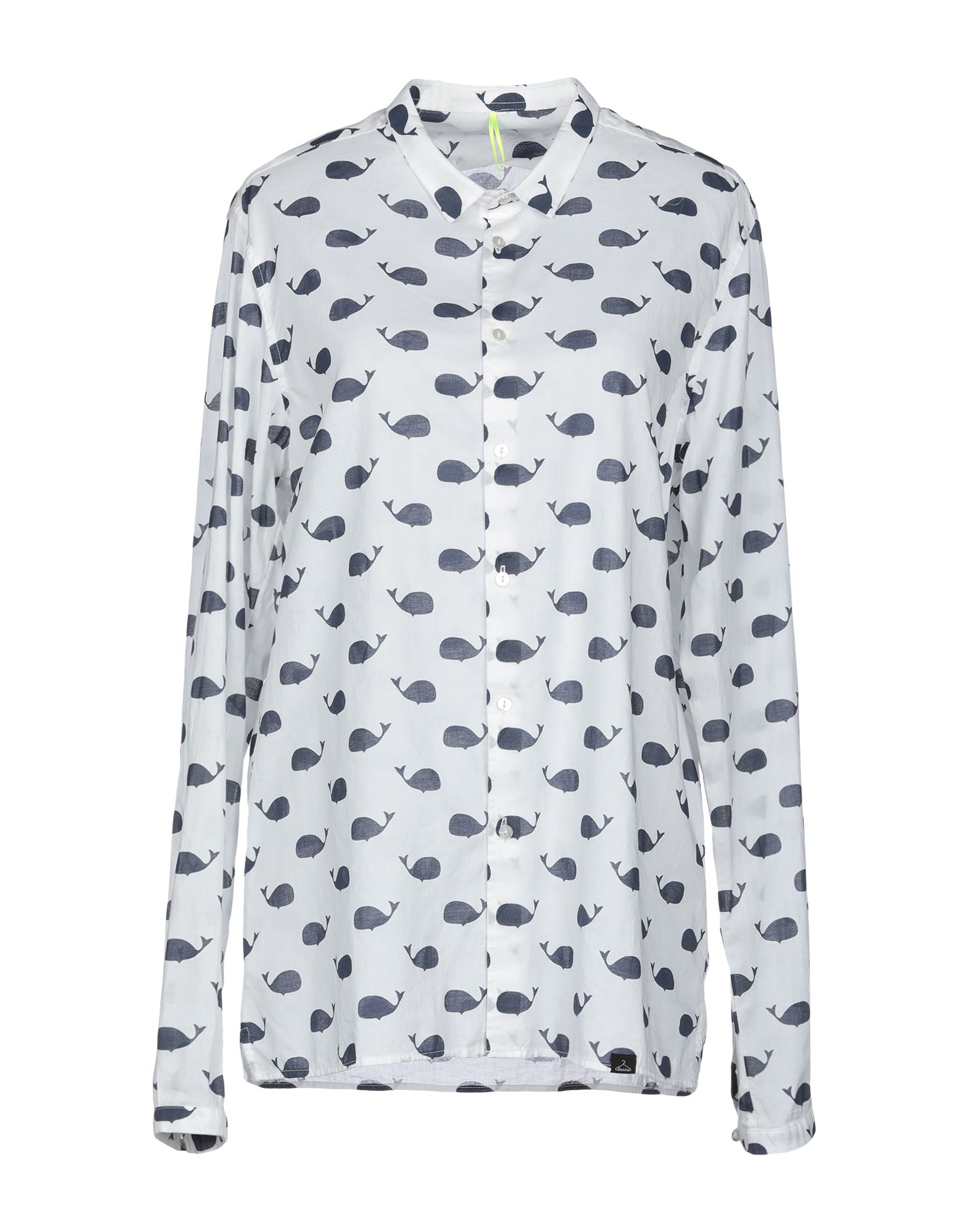 《期間限定セール中》BERNA レディース シャツ ホワイト L コットン 100%