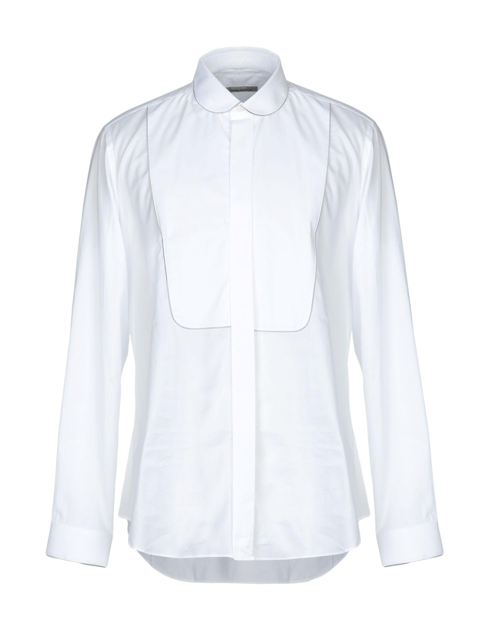 《セール開催中》PAL ZILERI CERIMONIA メンズ シャツ ホワイト 43 コットン 100%