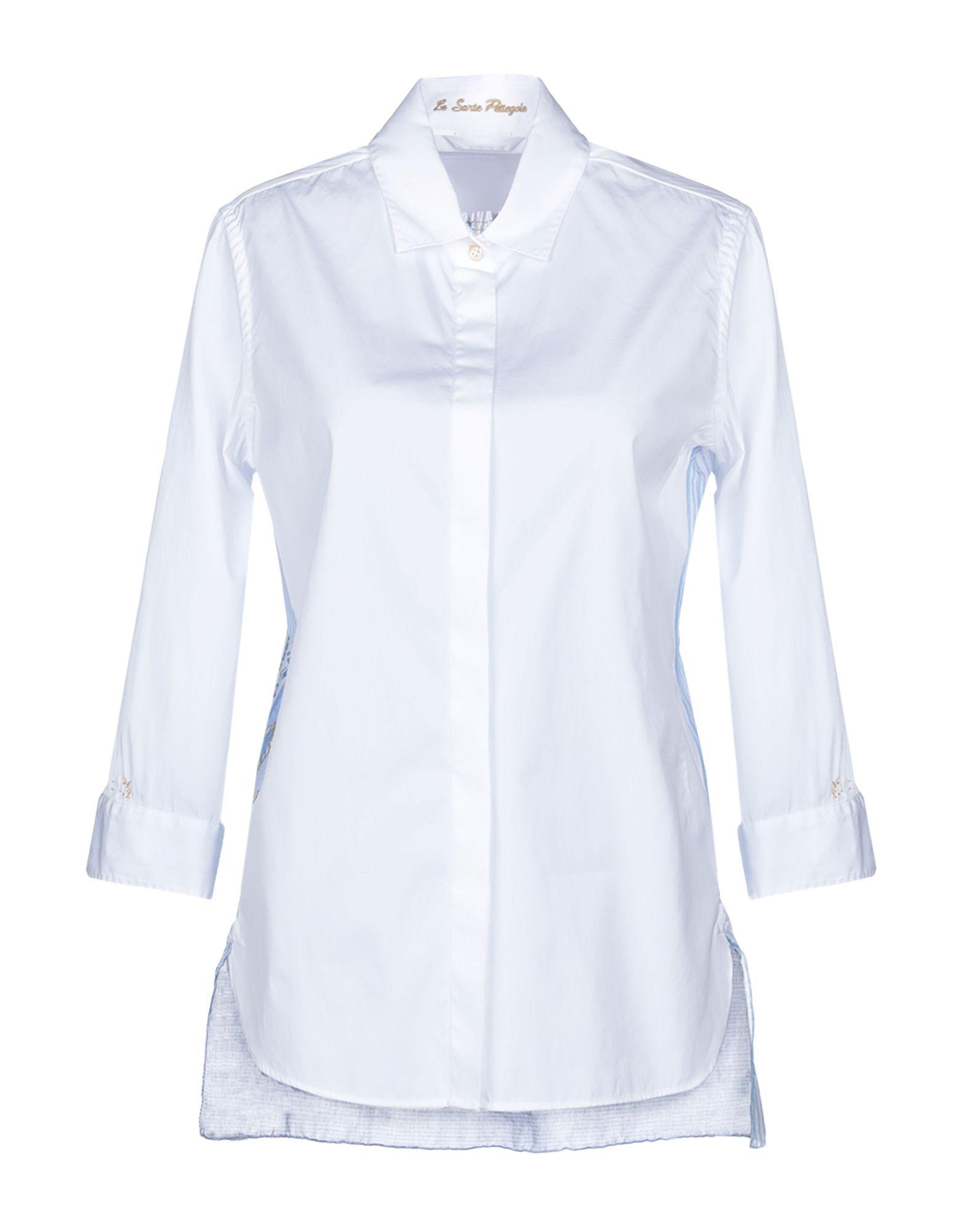 《送料無料》LE SARTE PETTEGOLE レディース シャツ ホワイト 40 コットン 100%