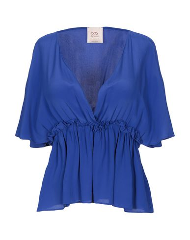 Фото - Женскую блузку SE-TA Rosy Iacovone ярко-синего цвета