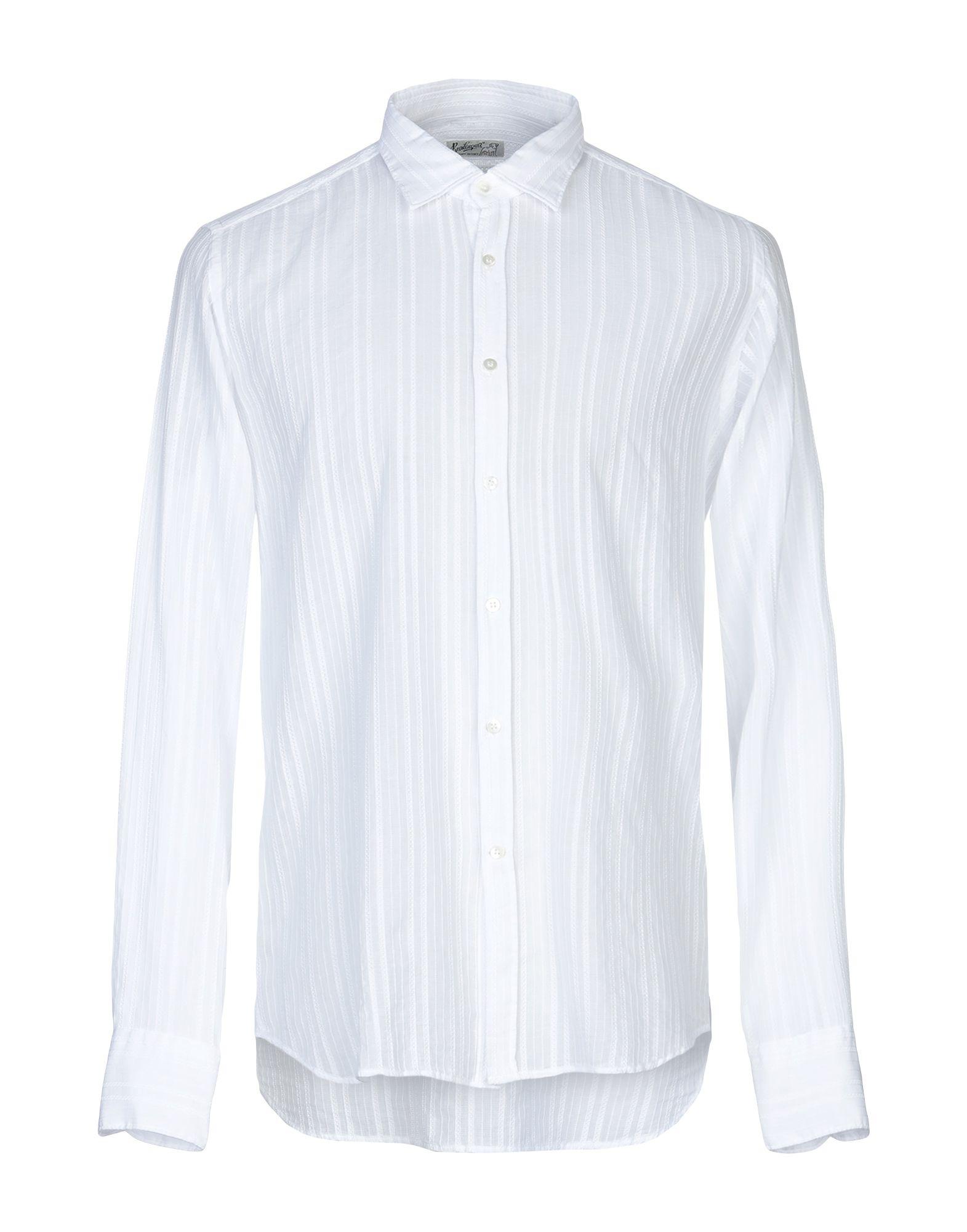 《送料無料》BEVILACQUA メンズ シャツ ホワイト S コットン 100%