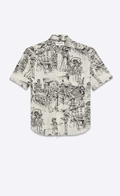 Cotton voile Mexican party shirt