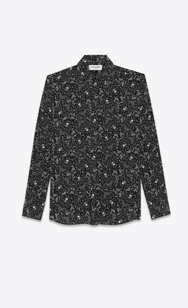 Crepe de chine USA Skull shirt