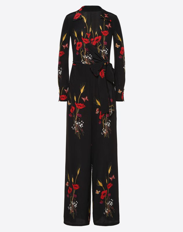 Flowery Meadow Crêpe de Chine Jumpsuit