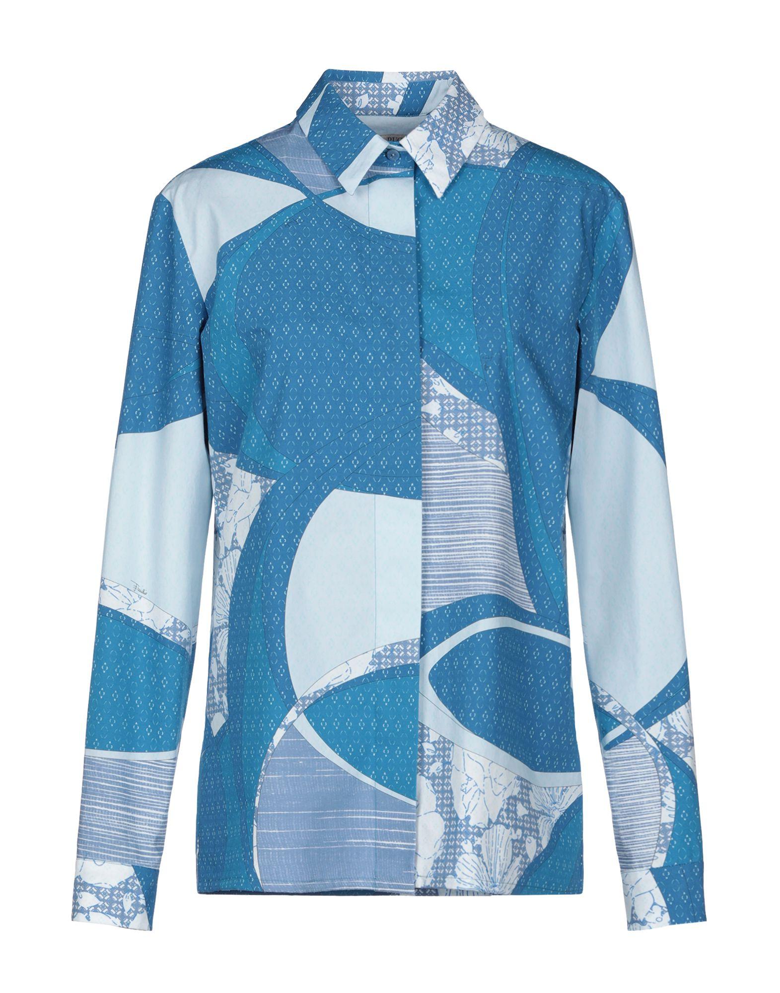 《送料無料》EMILIO PUCCI レディース シャツ アジュールブルー 38 コットン 100%