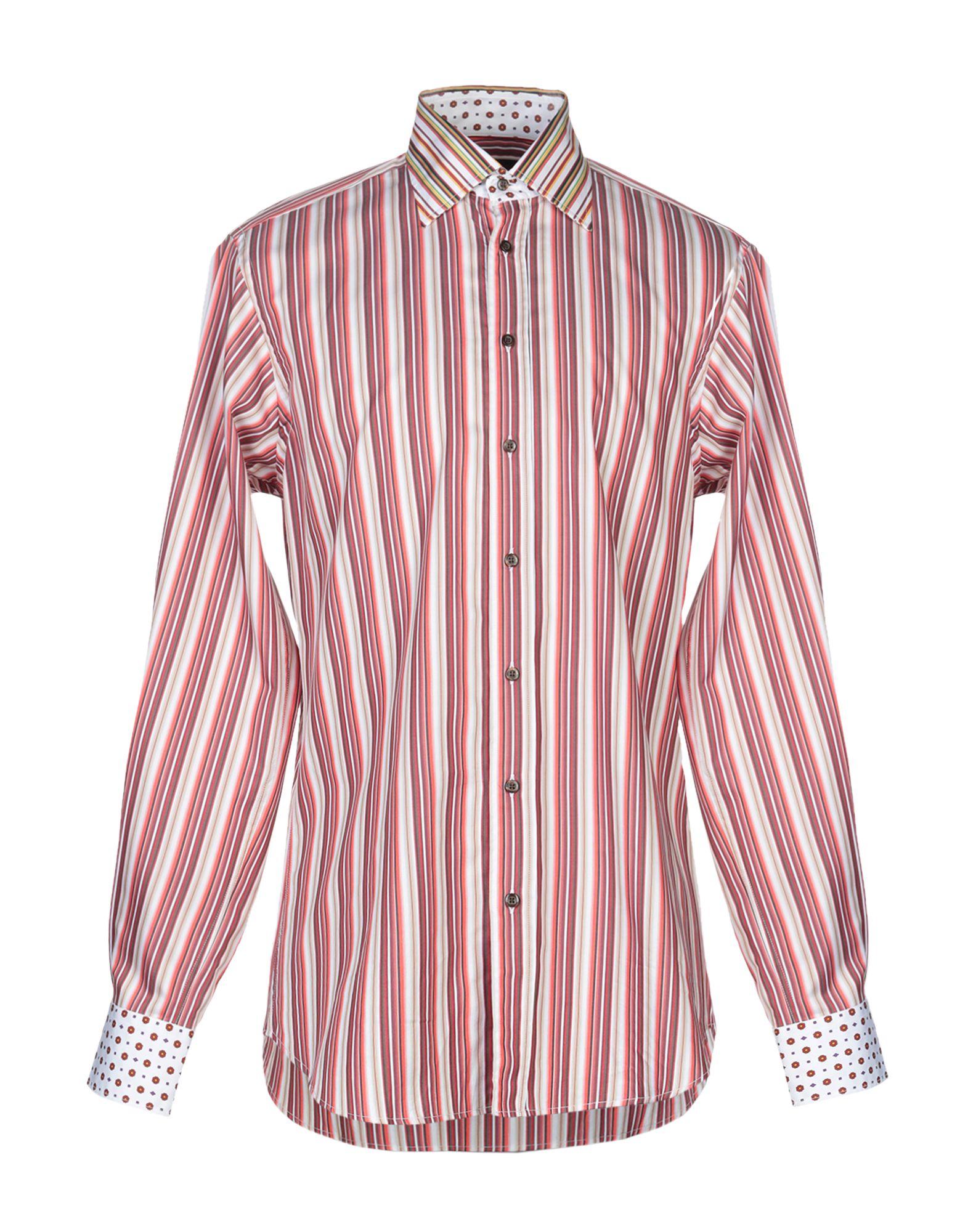 《送料無料》ETRO メンズ シャツ レッド 42 コットン 100%