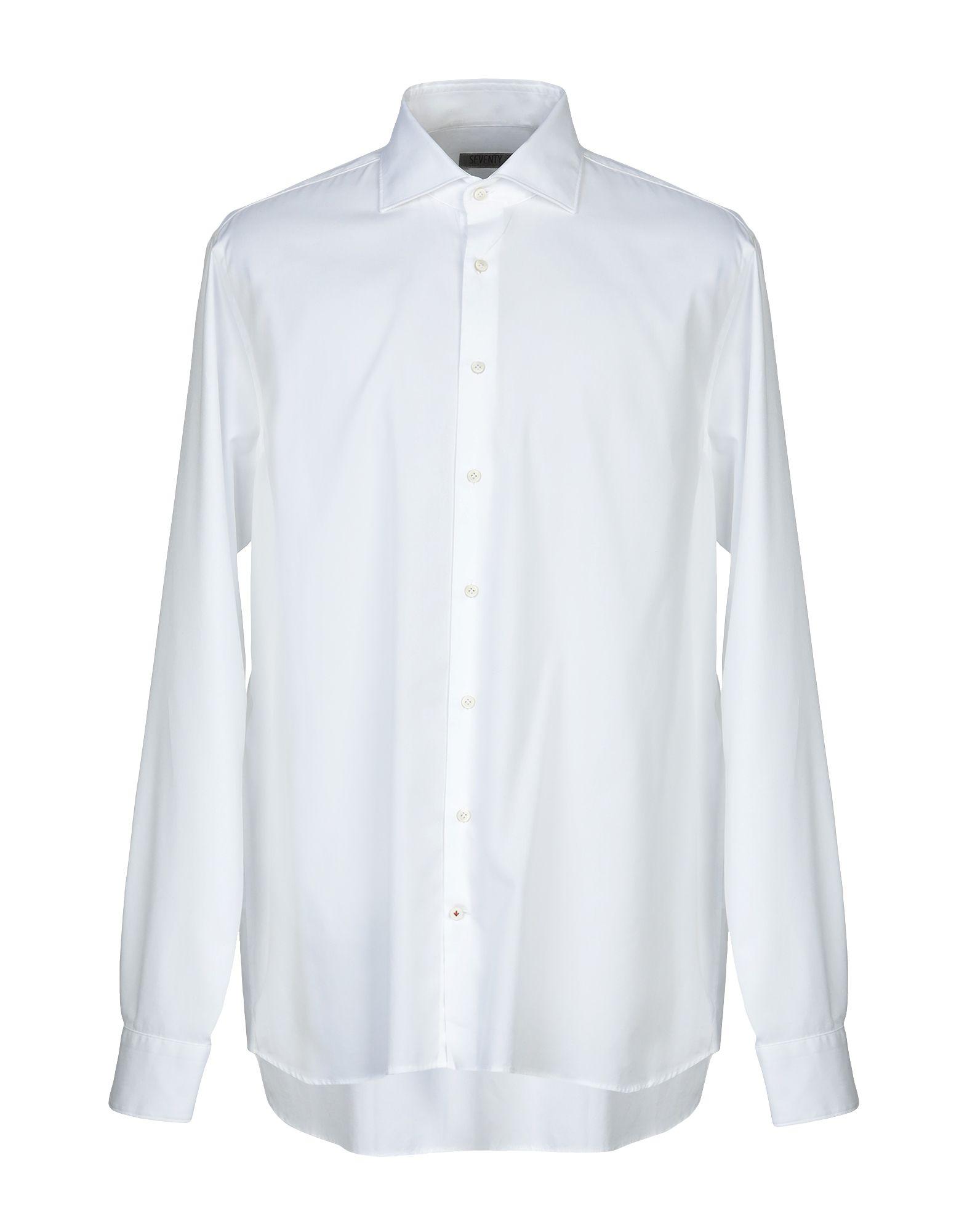 《送料無料》SEVENTY SERGIO TEGON メンズ シャツ ホワイト 39 コットン 100%