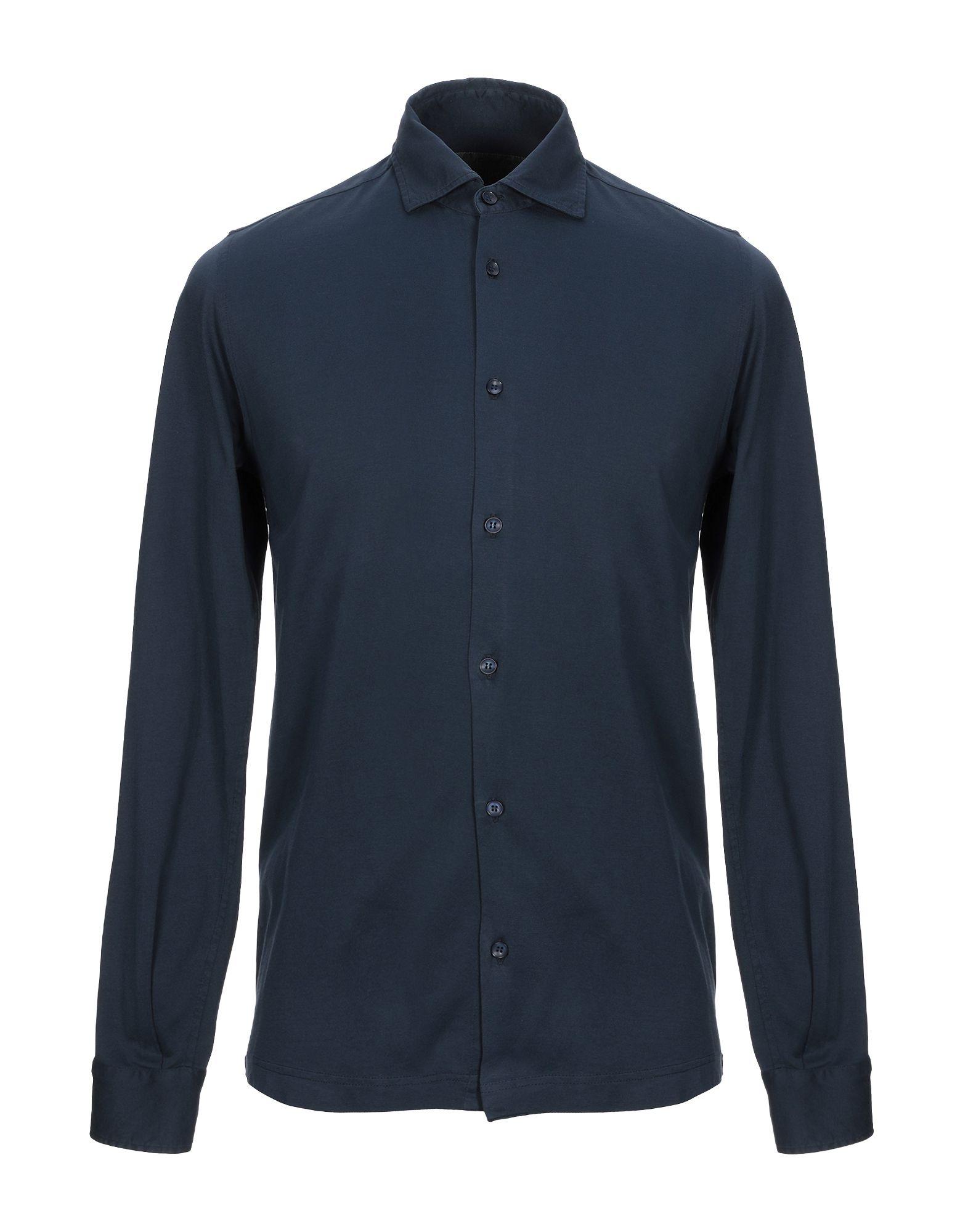 《セール開催中》JEORDIE'S メンズ シャツ ダークブルー XXL スーピマ? 100%