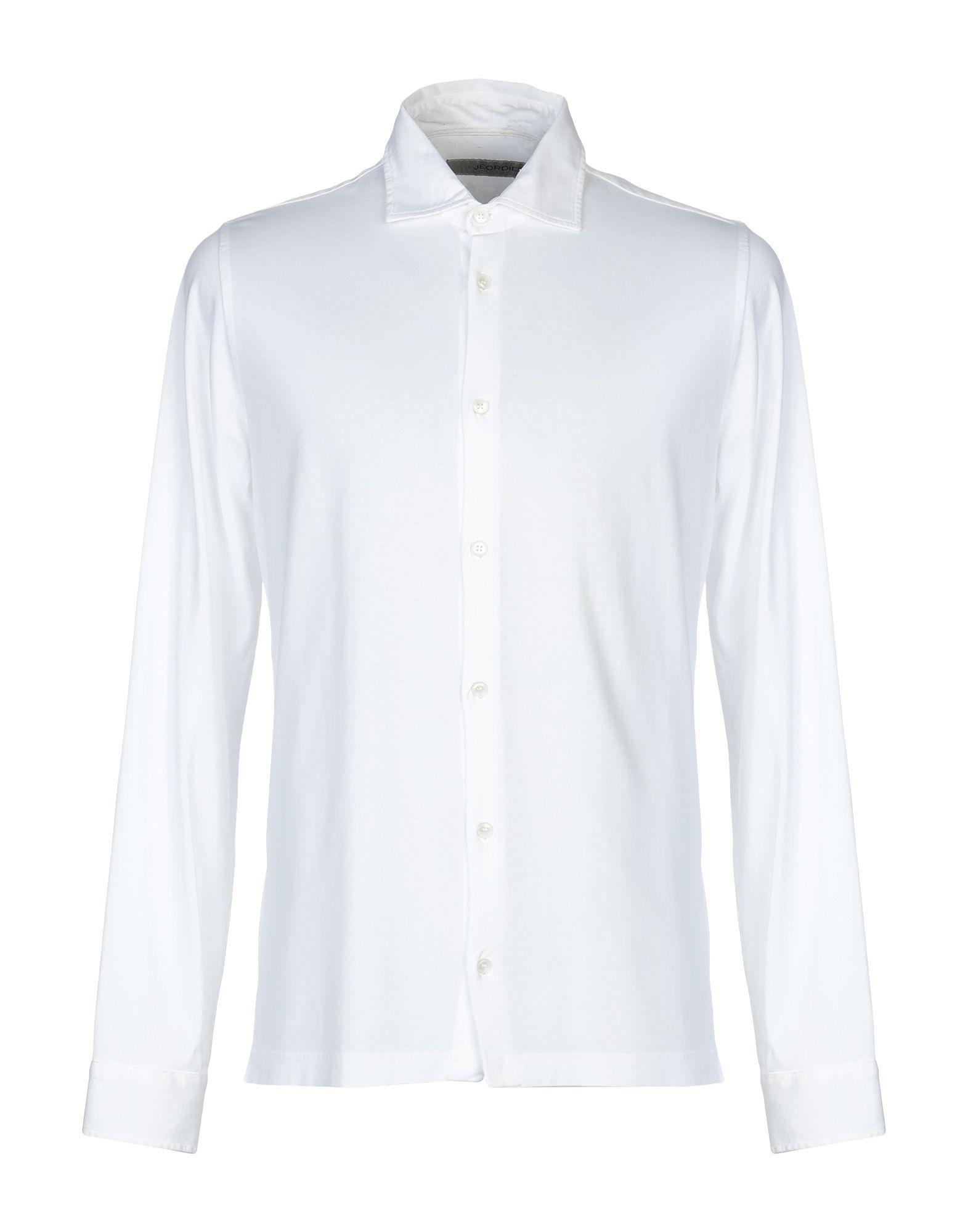 《セール開催中》JEORDIE'S メンズ シャツ ホワイト XXL スーピマ? 100%