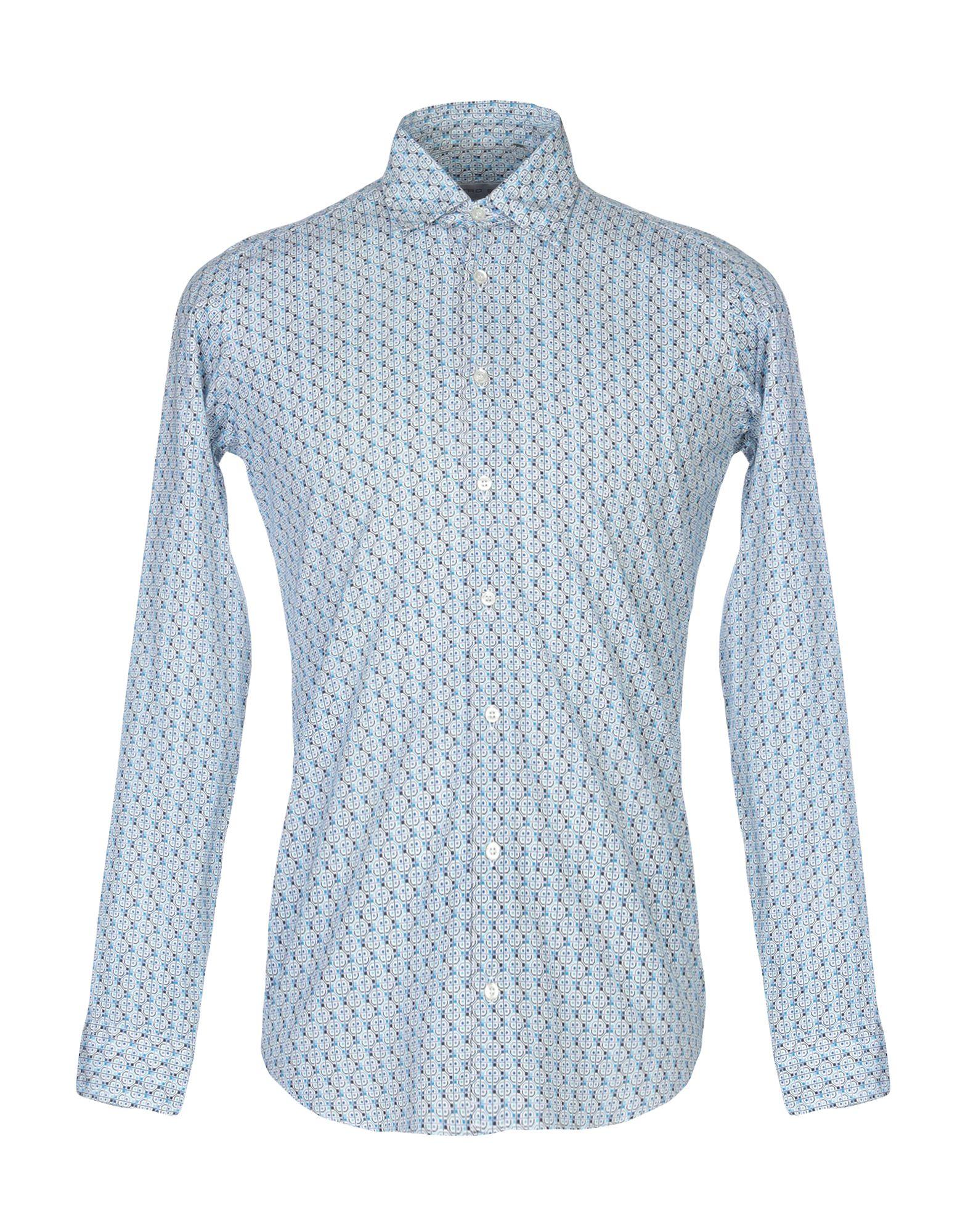 《送料無料》ETRO メンズ シャツ スカイブルー S コットン 100%