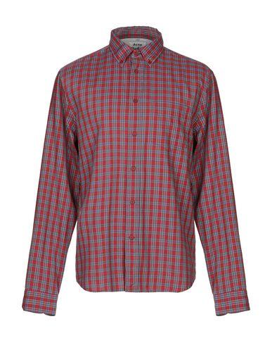Купить Pубашка кирпично-красного цвета