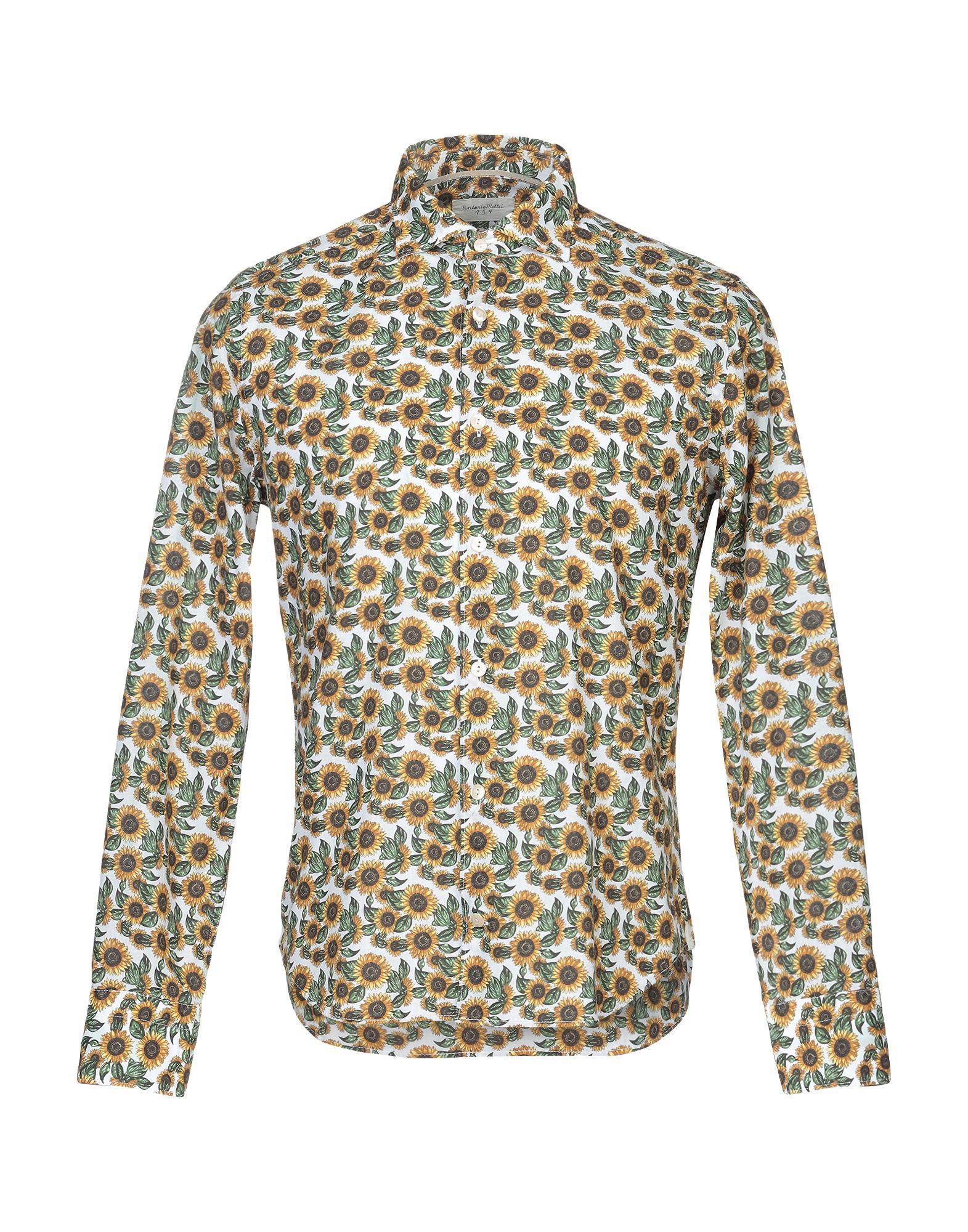《セール開催中》TINTORIA MATTEI 954 メンズ シャツ ホワイト 44 コットン 100%