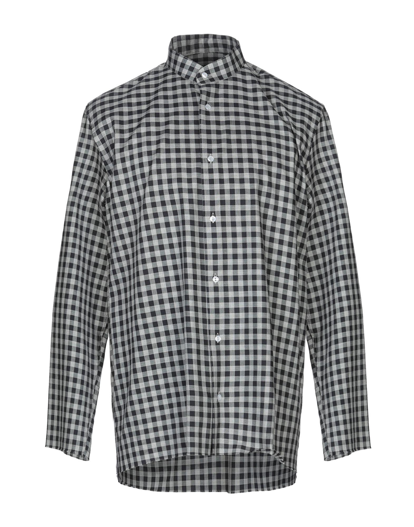 《セール開催中》MOOD_ONE メンズ シャツ ブラック L コットン 100%