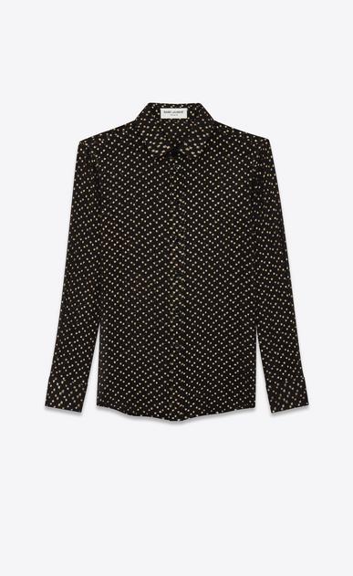 Chemise en crépon de soie à pois lamés