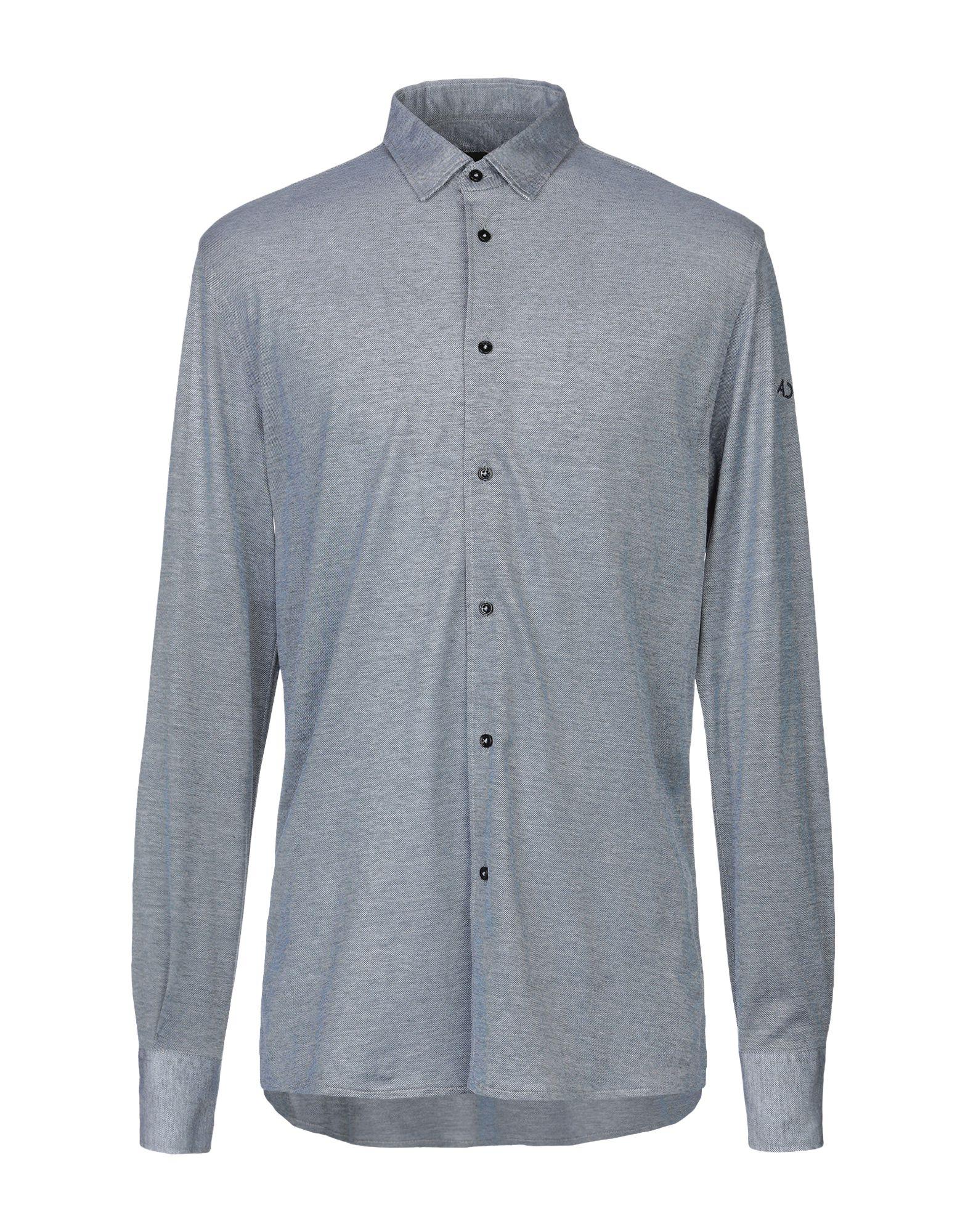 《送料無料》ALESSANDRO DELL'ACQUA メンズ シャツ ブルー XL コットン 100%