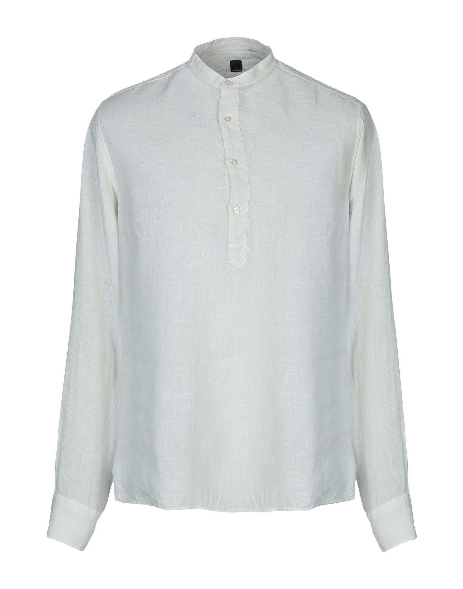 《送料無料》MAXI HO メンズ シャツ ライトグレー 38 麻 100%