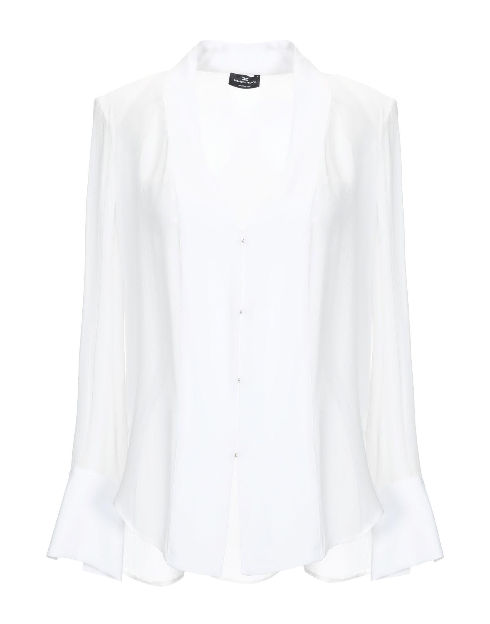 ELISABETTA FRANCHI レディース シャツ ホワイト