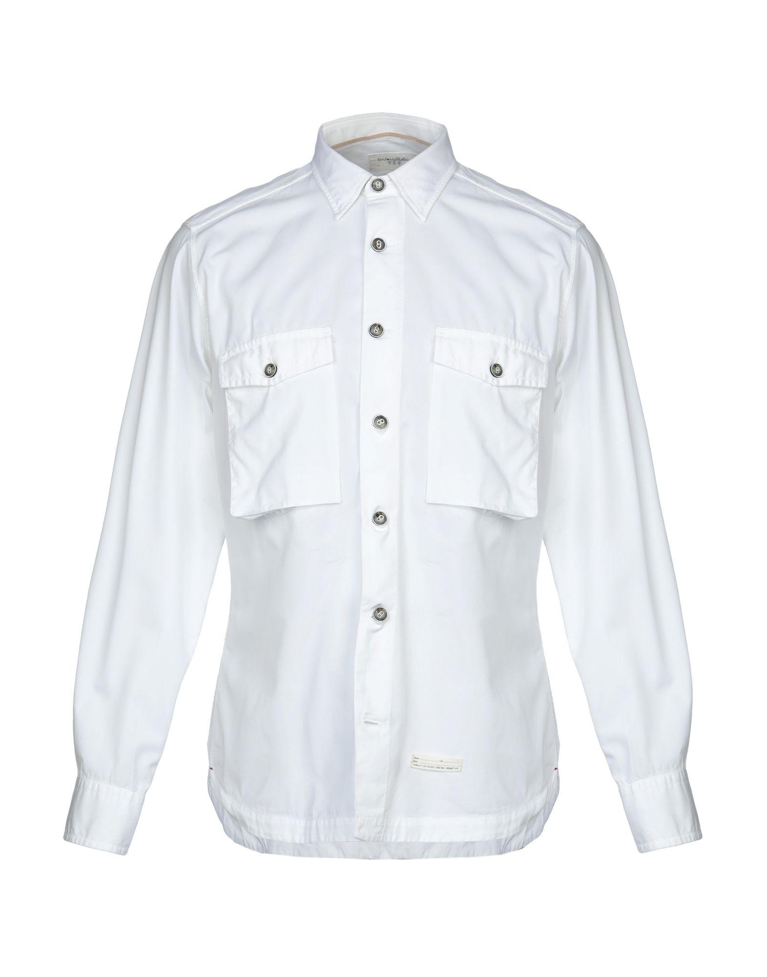 《セール開催中》TINTORIA MATTEI 954 メンズ シャツ ホワイト 40 コットン 100%