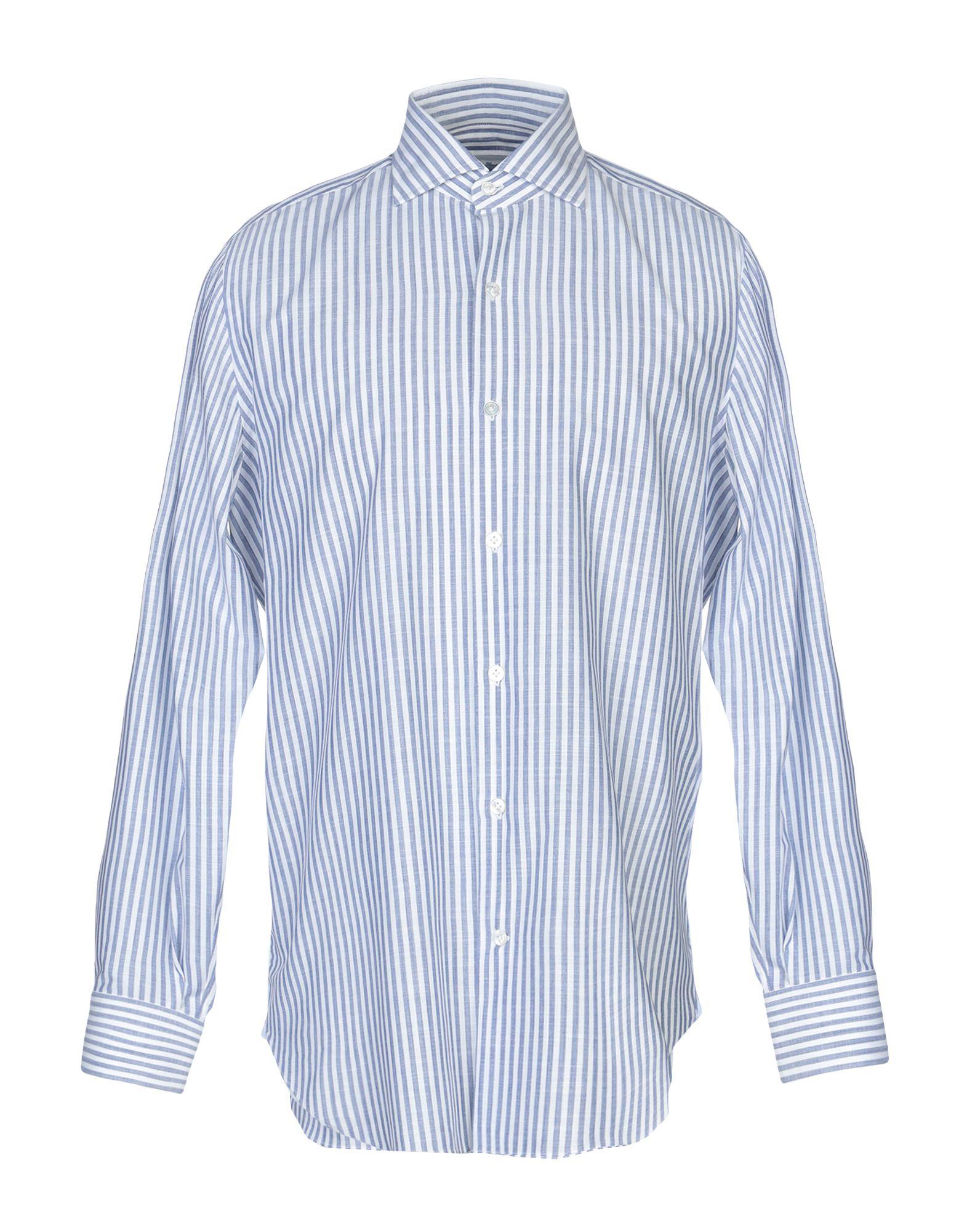 《送料無料》MARIA SANTANGELO Napoli メンズ シャツ ブルーグレー 42 コットン 100%