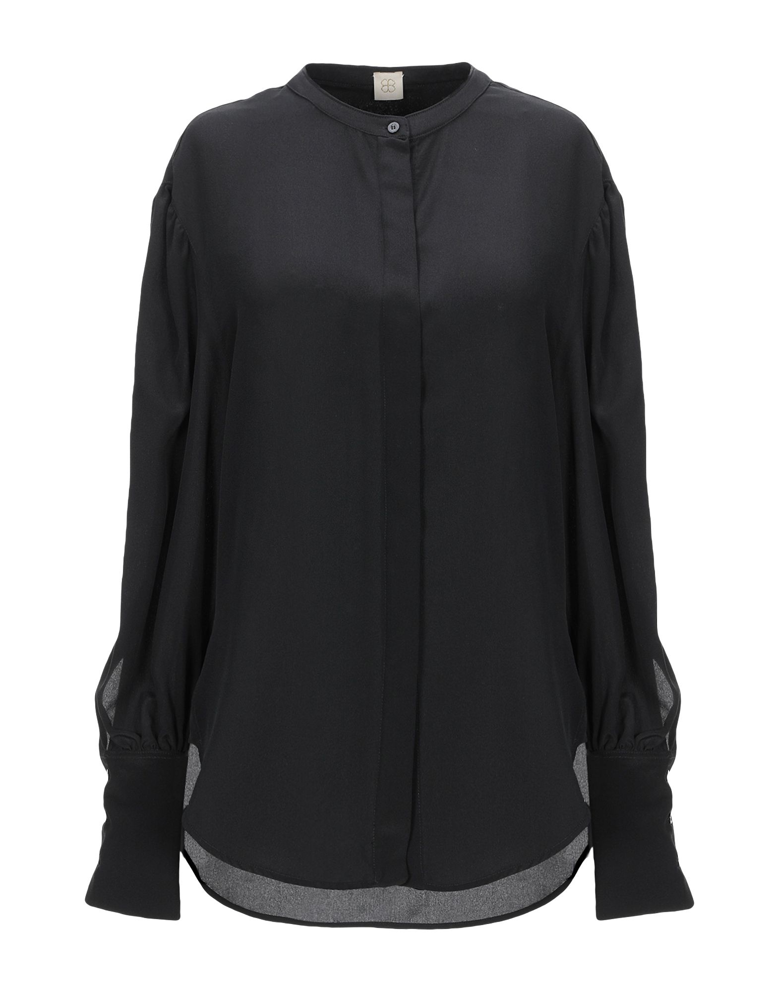《送料無料》TRUE ROYAL レディース シャツ ブラック 38 シルク 100%