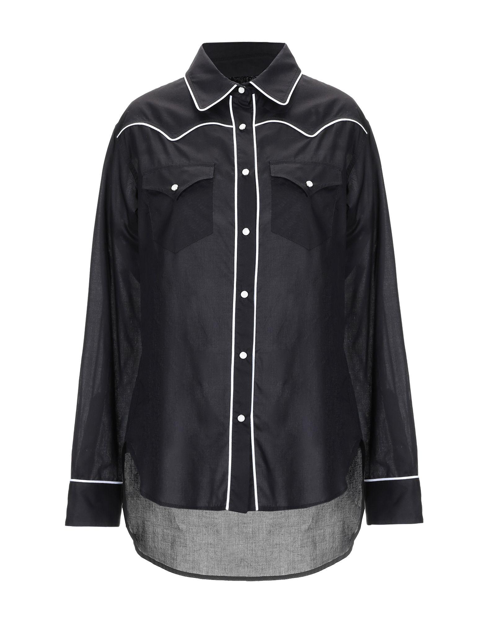 《期間限定セール中》L.A L.A TEX RANCH WEAR レディース シャツ ブラック III コットン 100%