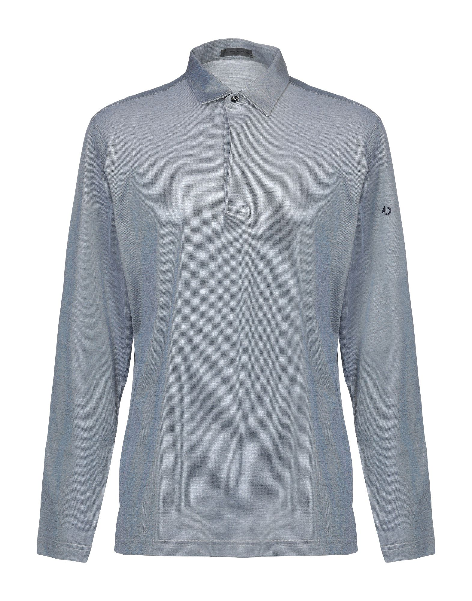 《送料無料》ALESSANDRO DELL'ACQUA メンズ ポロシャツ グレー XXL コットン 100%