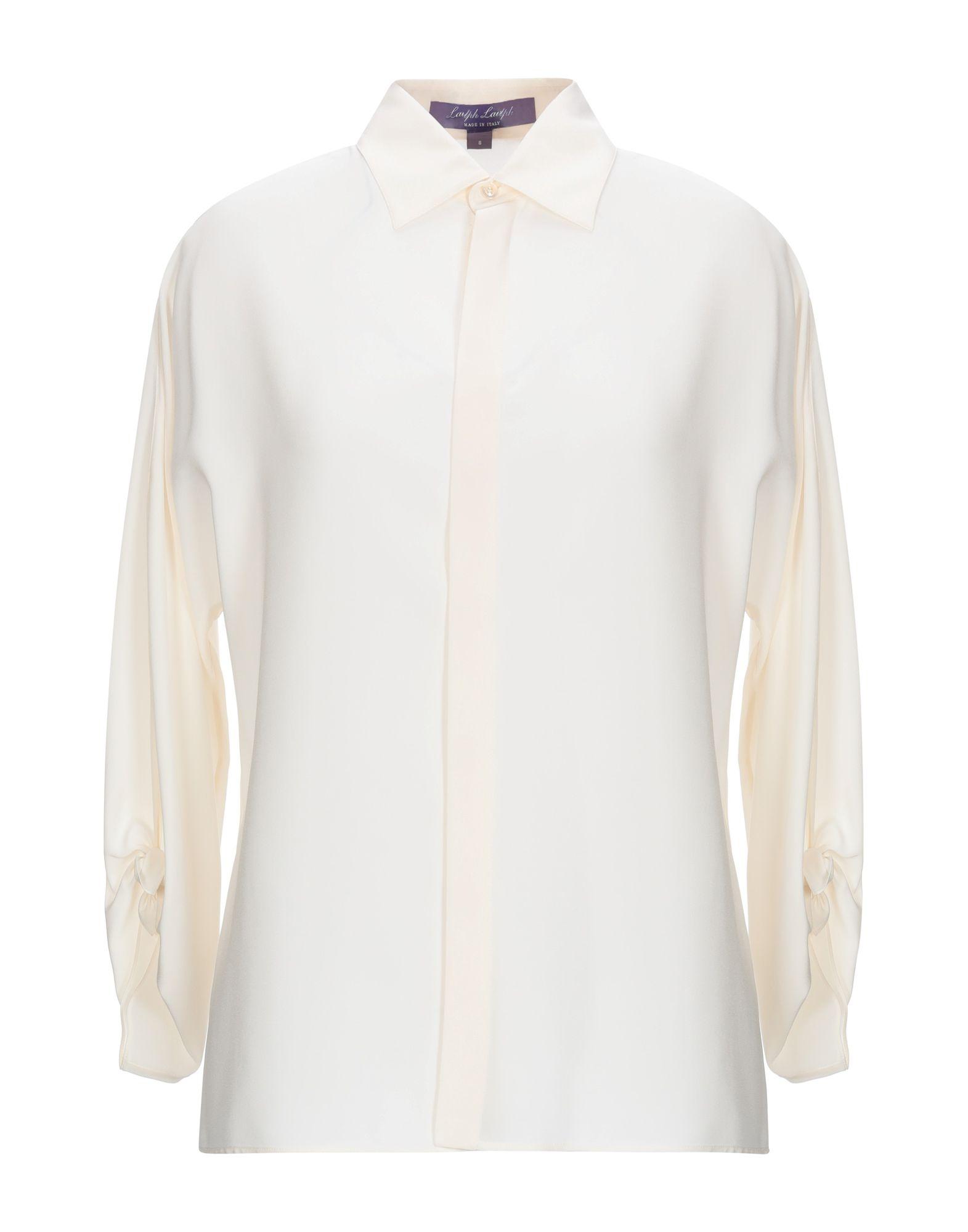 《期間限定セール中》RALPH LAUREN COLLECTION レディース シャツ アイボリー 8 シルク(マルベリーシルク) 100%