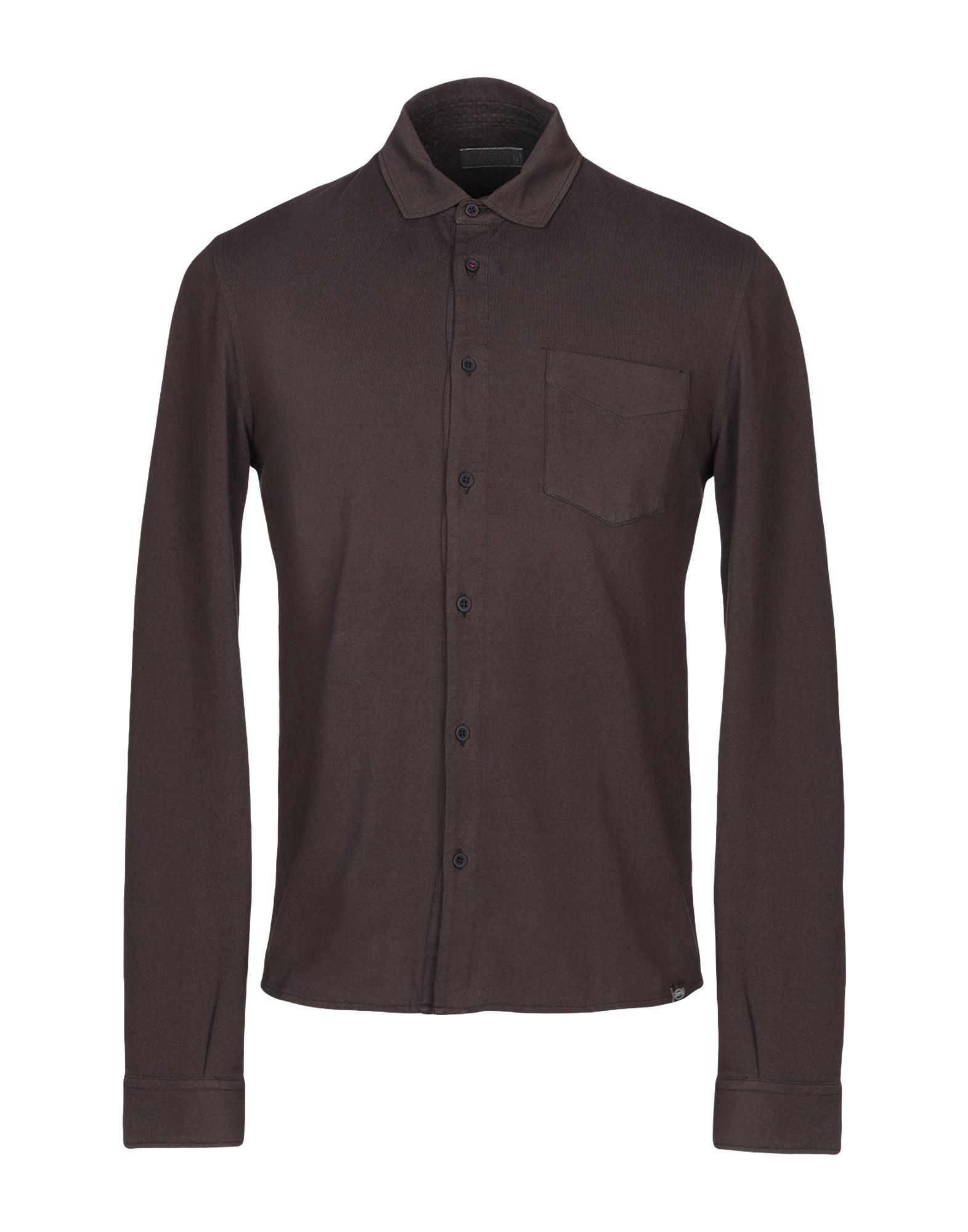《セール開催中》FLY 3 メンズ シャツ ブラウン S コットン 100%