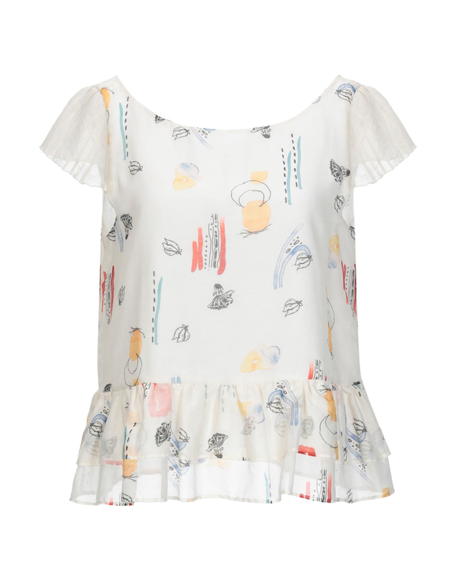 MANILA GRACE Блузка блузка с оборками