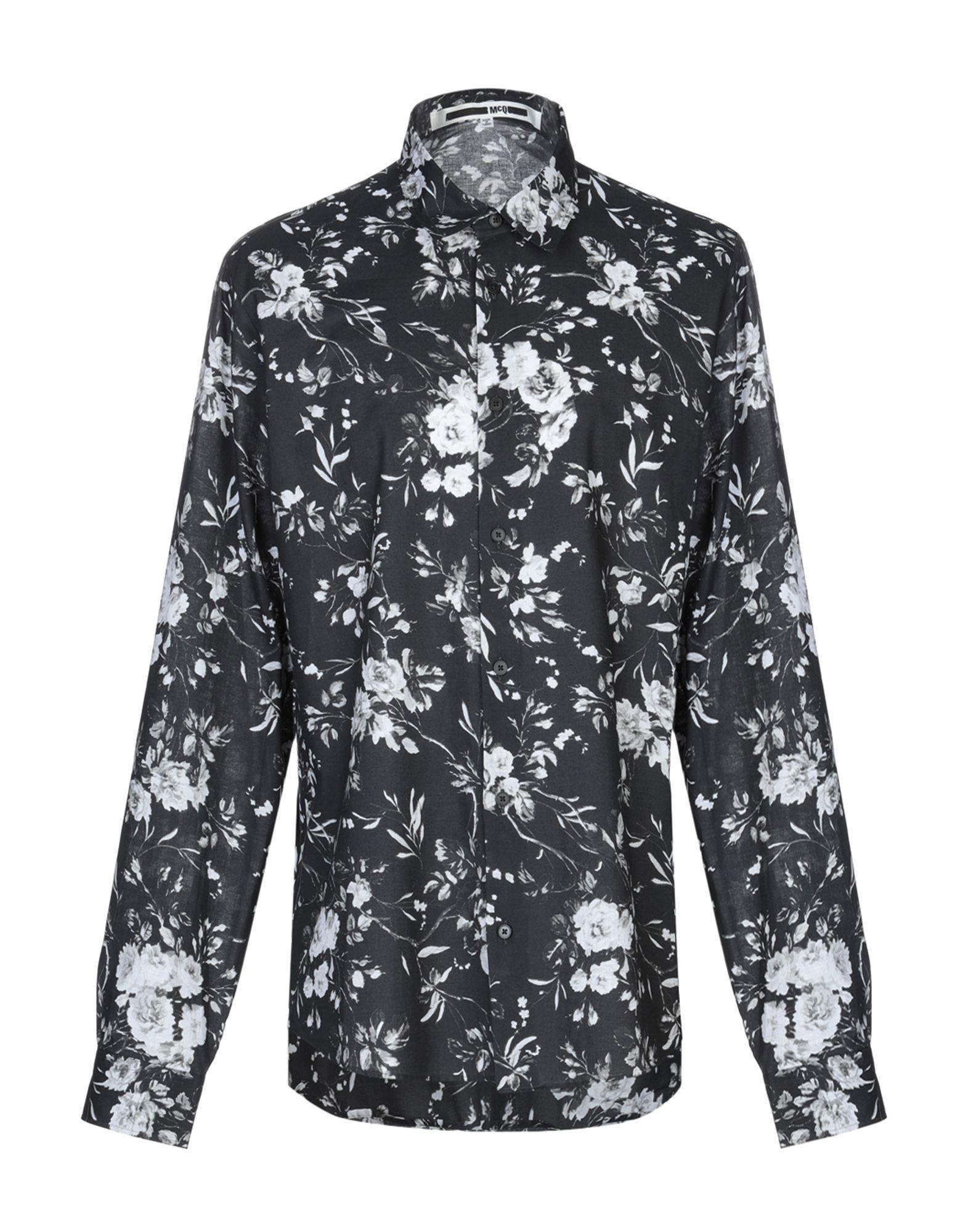 《送料無料》McQ Alexander McQueen メンズ シャツ ブラック 46 コットン 100%