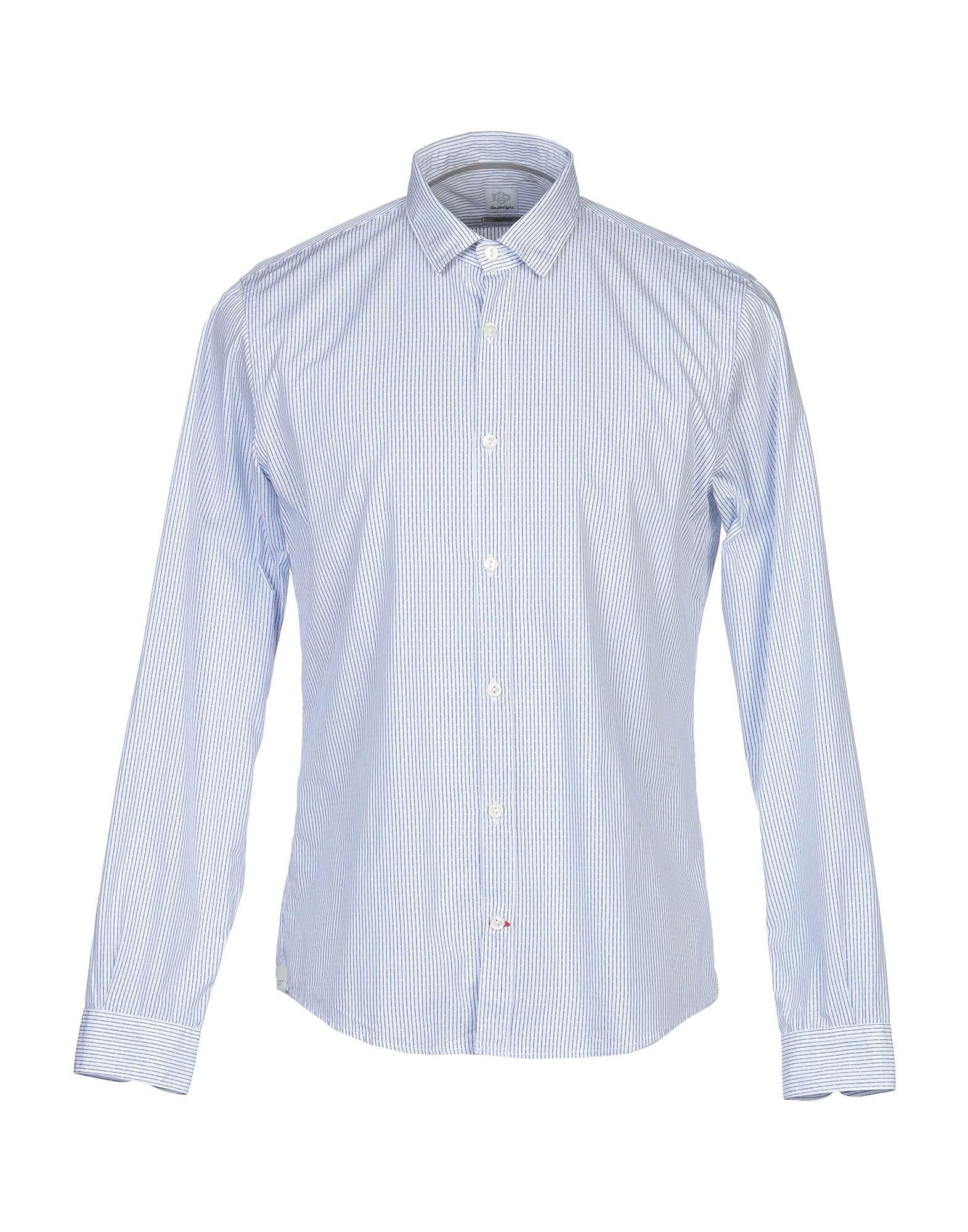 《期間限定セール開催中!》DOUBLE EIGHT メンズ シャツ ブルー M コットン 100%