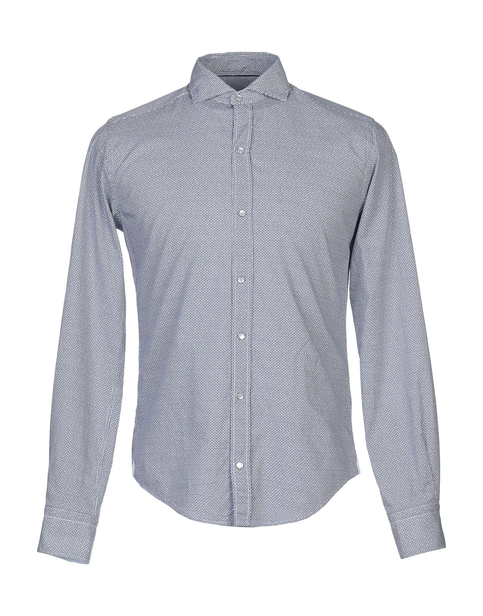《送料無料》JACOPO C. メンズ シャツ ブルー 39 コットン 100%