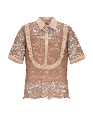 Фото - Женскую блузку SE-TA Rosy Iacovone цвет верблюжий