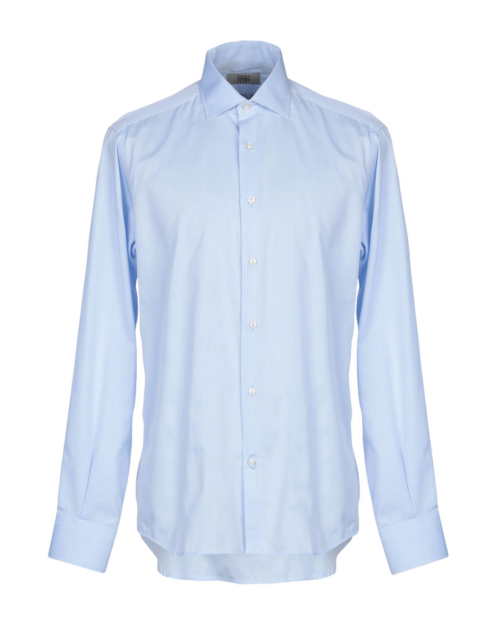 ENJOY BRAND+JEANS Pубашка european american style fashion brand luxury quality men casual denim jeans trousers straight blue pop slim vintage jeans c091