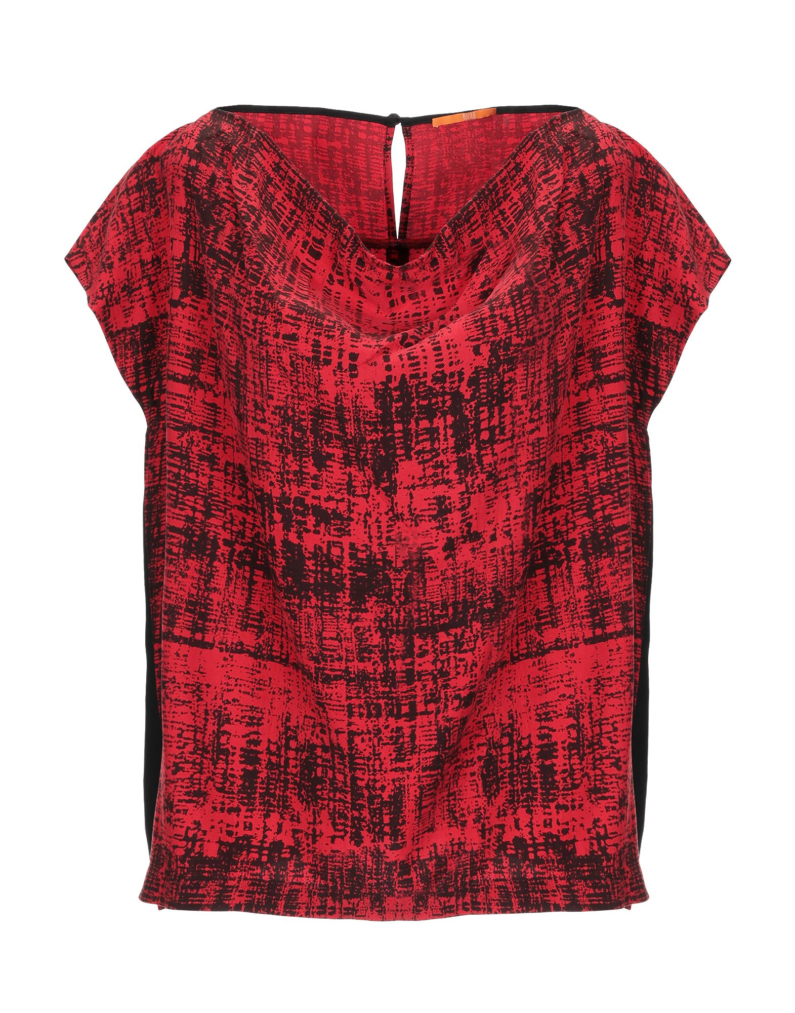 BOSS ORANGE Блузка блузка с рисунком короткие рукава вырез сзади