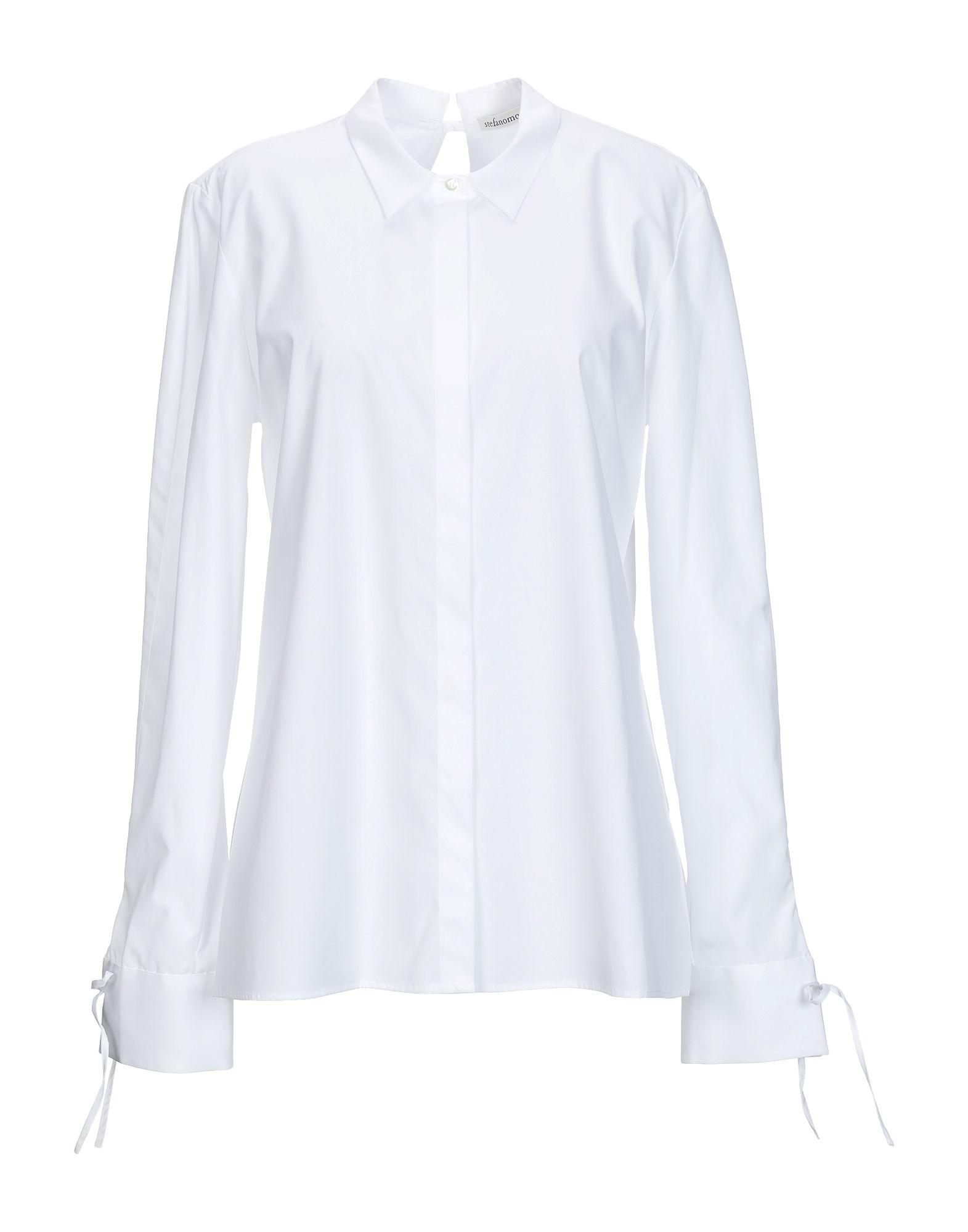 《送料無料》STEFANO MORTARI レディース シャツ ホワイト 44 コットン 100%