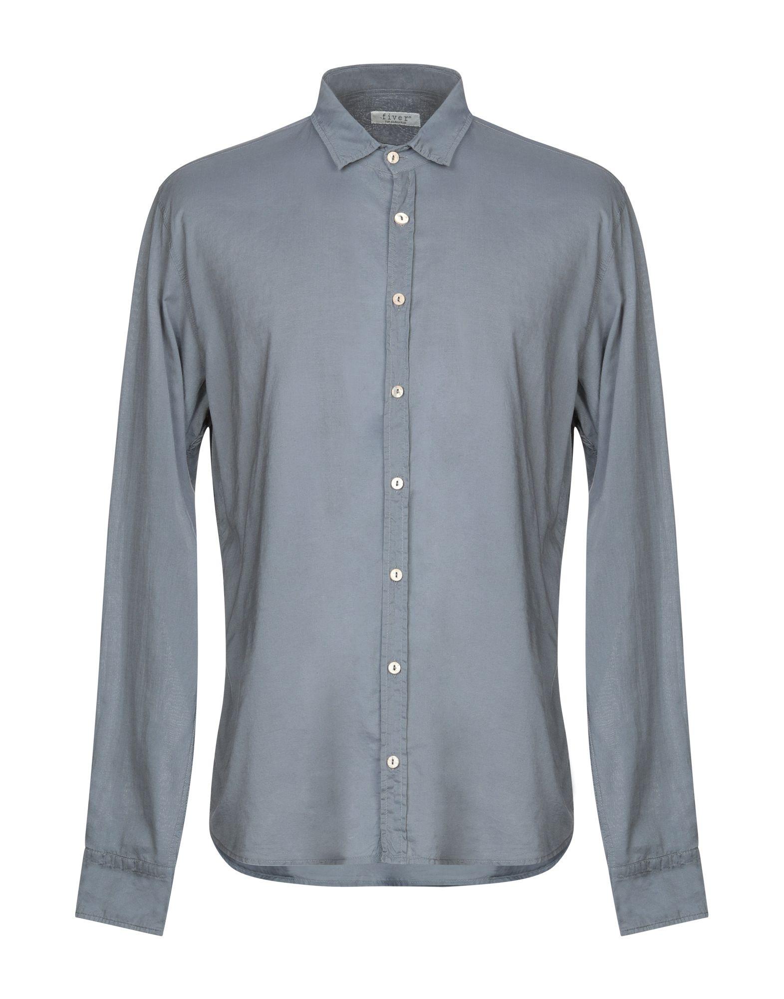 《送料無料》FIVER メンズ シャツ グレー S コットン 100%